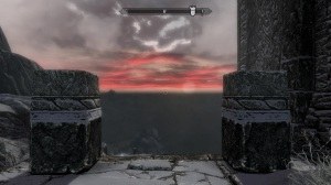 Sunset from High Hrothgar's Porch