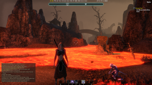 Out in all the lava.  It hurts pretty bad to fall in, but it's not insta-death, at least.