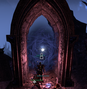 "I *love* the ""cloud"" effect inside this portal in Coldharbour.  Looks even better in-game when in motion."
