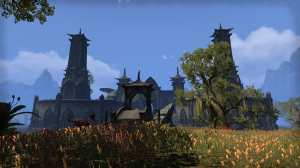 The city of Mournhold is quite imposing from this angle