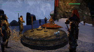 The Ebonheart Pact leaders affirming their alliance with treasured artifacts