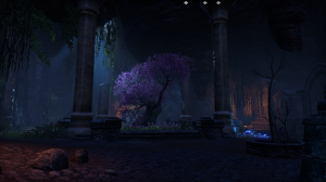 Incongruously gorgeous tree in an underground crypt full of undead