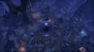 """you're up on this high tower and this mage says """"You can jump down safely here"""" and this is the result."""