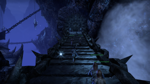 Screenie didn't really capture it, but the light reflecting off this obsidian bridge was pretty awesome