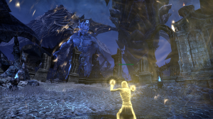 The screenie doesn't capture it well, but I really like the light-refraction of this magical shield during this fight