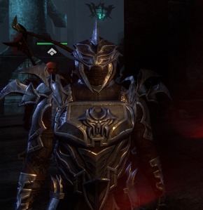 Bound Armor has a fully closed-face helm.  I thought it was open-faced before turning the helm back on.