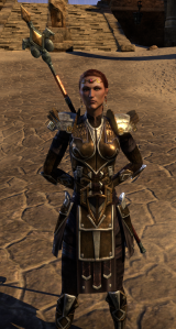 Bangkorai's Final Boss - Selima Tharn.  Yes, she's relater to Abner.