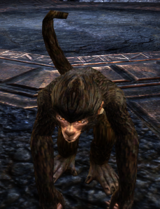 One quest in Coldharbour turns you briefly into this monkey
