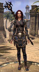 At VR1 I swapped to the Barbaric look.  I love the armor itself, but that giant skull belt... I may convert that to Imperial and hope it doesn't clash color-wise.
