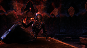 Random ESO screenshot that has nothing to do with anything except... is that Dremora trying a sexy pose?  *shudders*