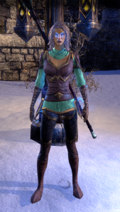I'd forgotten how silly the Dunmer cultural garb is, but hey, gotta have a reason for the Pact emissaries to call the greeter wearing it the court jester, right?