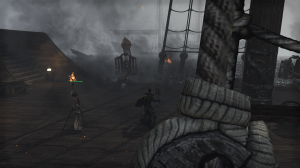 Fighting sea serpents is fun.  Too bad Daedric light armor always looks like a dress, though.