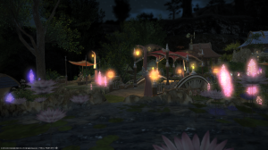 The residential zones are all pretty.  This is the one in Gridania