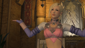 """Dunno why, but I really like this Minfilia NPC.  The quests that she has seem to have a little something """"more"""" than the typical ones."""