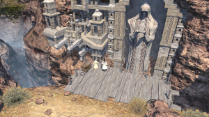 An impressive chasm and ruins.  FFXIV is certainly a beautiful game!