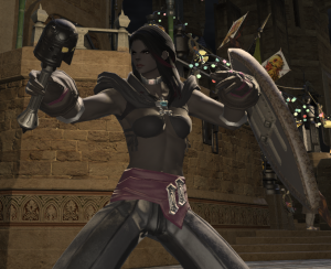 "Still the ""Coliseum Shawl"" but the rest is my Black Mage class set, so it's not quite so... not there.... anymore."