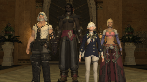 The Scions ready to kick ass and chew bubblegum, but there's no bubblegum in Eorzea
