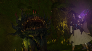 A nasty Morbol boss in the Aurum Vale dungeon