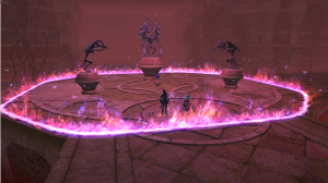 This was an interesting trash fight.  Looked very cool and was a dps race vs the 4 demon walls.  Quite fun!