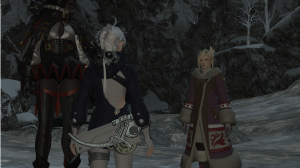 An NPC actually put on cold weather gear to go to a cold place?  Be still my beating heart!