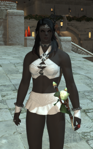 I'm considering glamouring my healer outfit to look like this, but I'm thinking it might be a bit too bare.  Especially since I like the ornate robes I currently have.