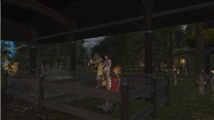 "She even stabled herself on her chocobo at one point, since ""that's where she's going to sleep."""