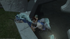 This other character followed my daughter around Mist for a while, which she thought was hilarious.