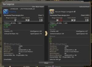 My weapon upgrade.  Pretty massive jump!